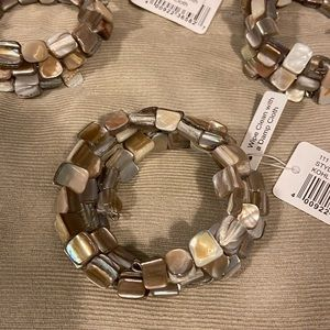 🤩Sand & iridescent rock spiral napkin holders (5)